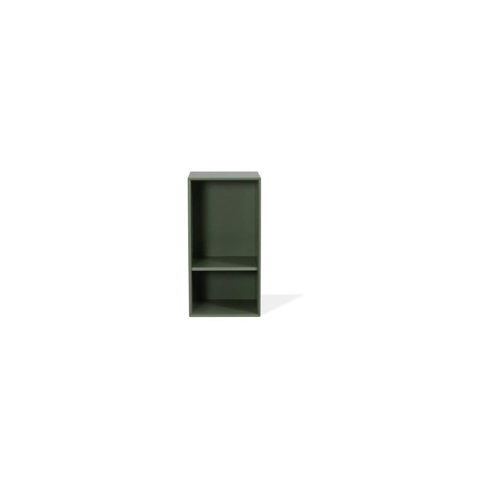 Ciemnozielony regał Tenzo Z Halfcube, 36x70 cm