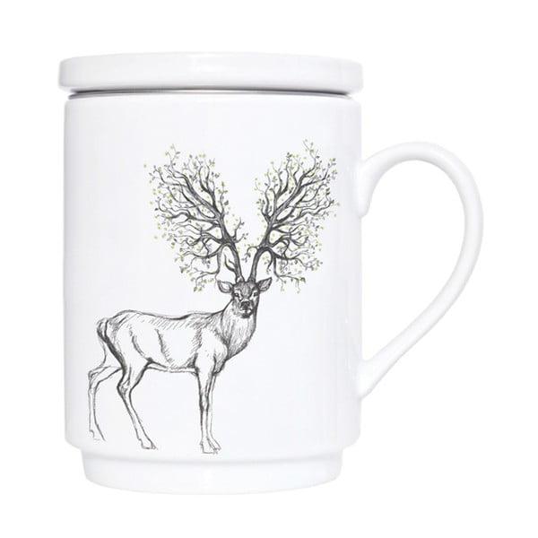 Kubek porcelanowy z sitkiem Forest Dreams, 300 ml