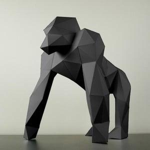 Papierowa rzeźba Goryl, czarna