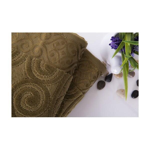 Zestaw 2 ręczników Hanzade Green, 70x140 i 50x90 cm