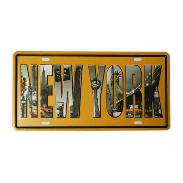 Tablica New York, 15x30 cm