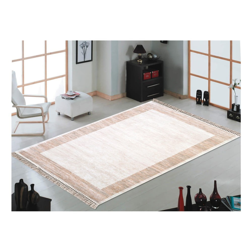 Brązowo-beżowy dywan Vitaus Hali Ruto, 80x150cm