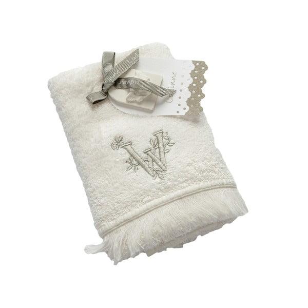 Ręcznik z inicjałem W, 30x50 cm