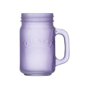 Mlecznofioletowy mason słoik/szklanka Kilner, 0,4 l
