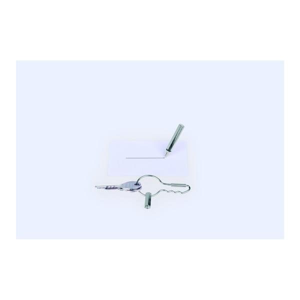 Breloczek na klucze z długopisem DOIY Keyring Pen Silver