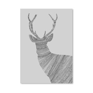 Plakat Stag Grey, 30x42 cm