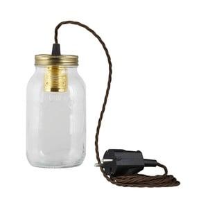 Lampa JamJar Lights, brązowy skręcony kabel