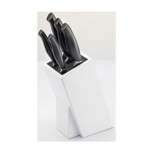 Komplet 5 noży z blokiem Jean Dubost Crazy Blanc