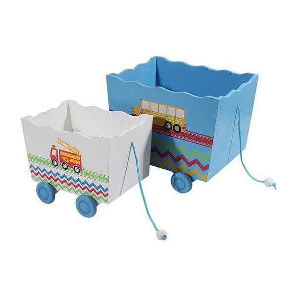 Komplet 2 pudełek dziecięcych Wooden
