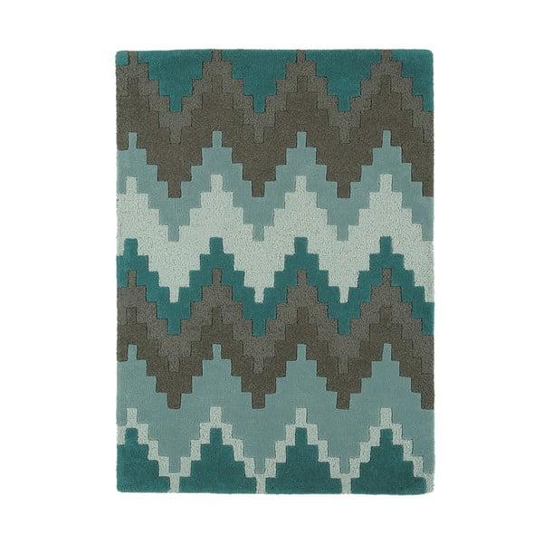Wełniany dywan Matrix Cuzzo Teal 160x230 cm