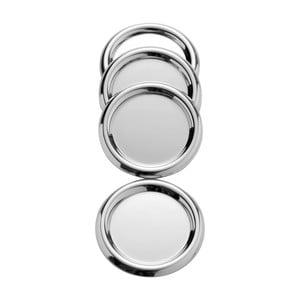 Zestaw 4 podkładek ze stali nierdzewnej Steel Function Coasters, ø 10 cm