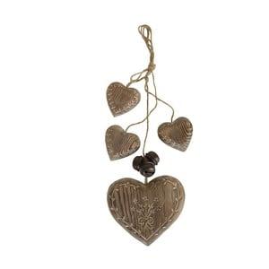 Dekoracja wisząca Antic Line Wood Garland Hearts