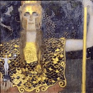 Reprodukcja obrazu Gustava Klimta - Pallas Athene, 50x50 cm