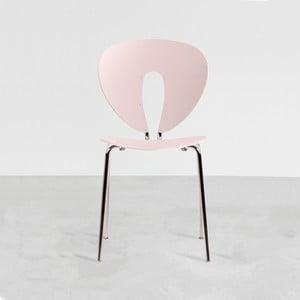 Krzesło Globus, różowe/błyszczące nogi