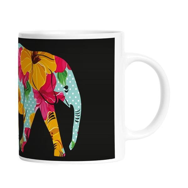 Kubek ceramiczny Flower Elephant, 330 ml