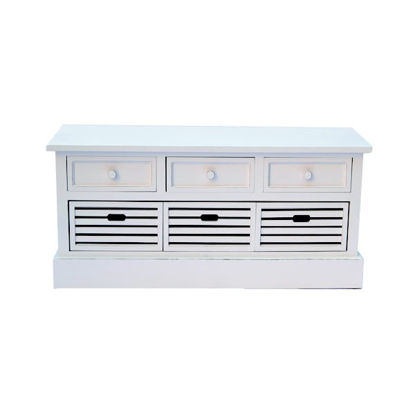 Ławka z szufladami White Bench