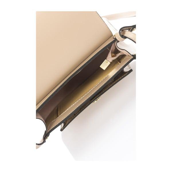 Torebka skórzana Crossido, szarobeżowa (taupe)
