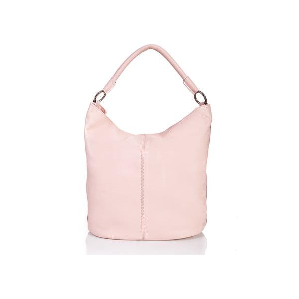 Różowa torebka skórzana Massimo Castelli Norvala