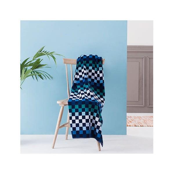 Ręcznik Squares Blue, 100x180 cm