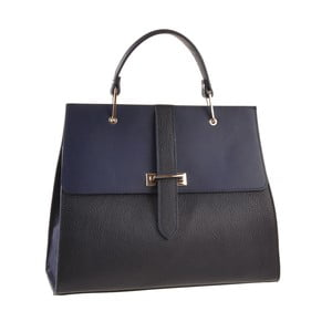 Skórzana torebka Pau, niebieska