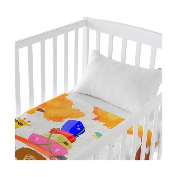 Dziecięca narzuta z poszewką na poduszkę Baleno Family Trip, 100x130 cm