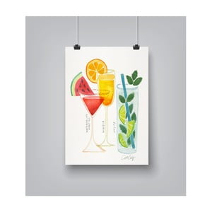 Plakat Americanflat Summer Cocktails by Cat Coquillette,30x42cm