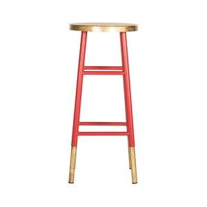 Czerwony stołek barowy Safavieh Kia