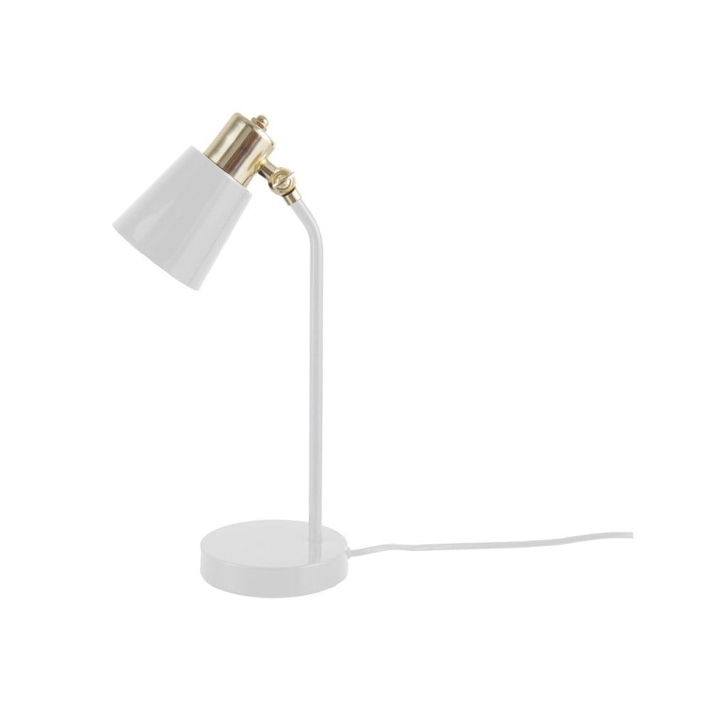 Biała lampa stołowa Leitmotiv Classic
