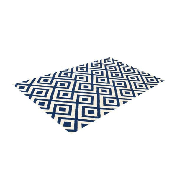Dywan wełniany Luisa Dark Blue, 180x120 cm