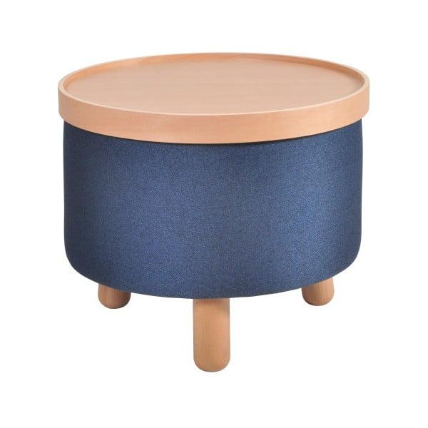 Niebieski stołek ze zdejmowanym blatem Garageeight Moldeze, ⌀ 50 cm