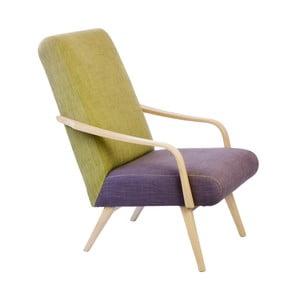 Fotel retro Kamila Velínská, Violet/Green