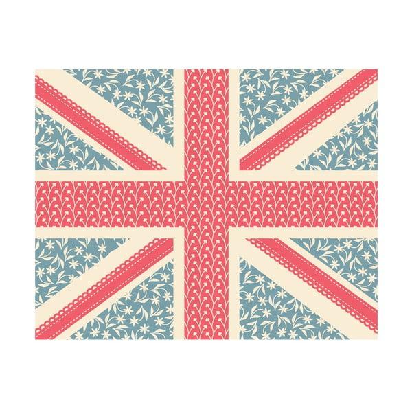 Winylowy dywan Floral Union Jack, 99x120 cm