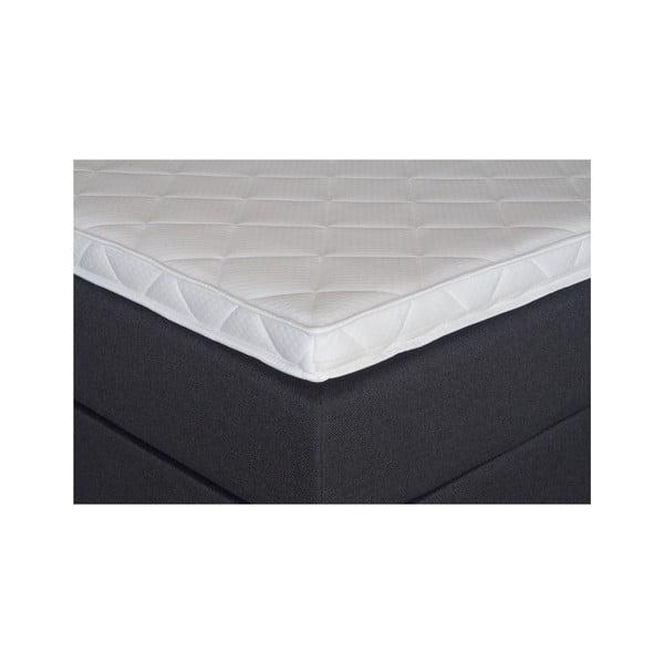 Czarne łóżko z materacem Gemega Jolly, 160x200 cm