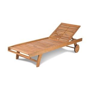 Regulowany leżak ogrodowy z drewna akacji Fieldmann