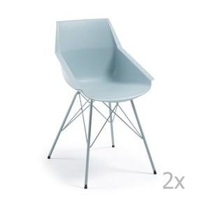 Zestaw 2 niebieskich krzeseł La Forma Kunn