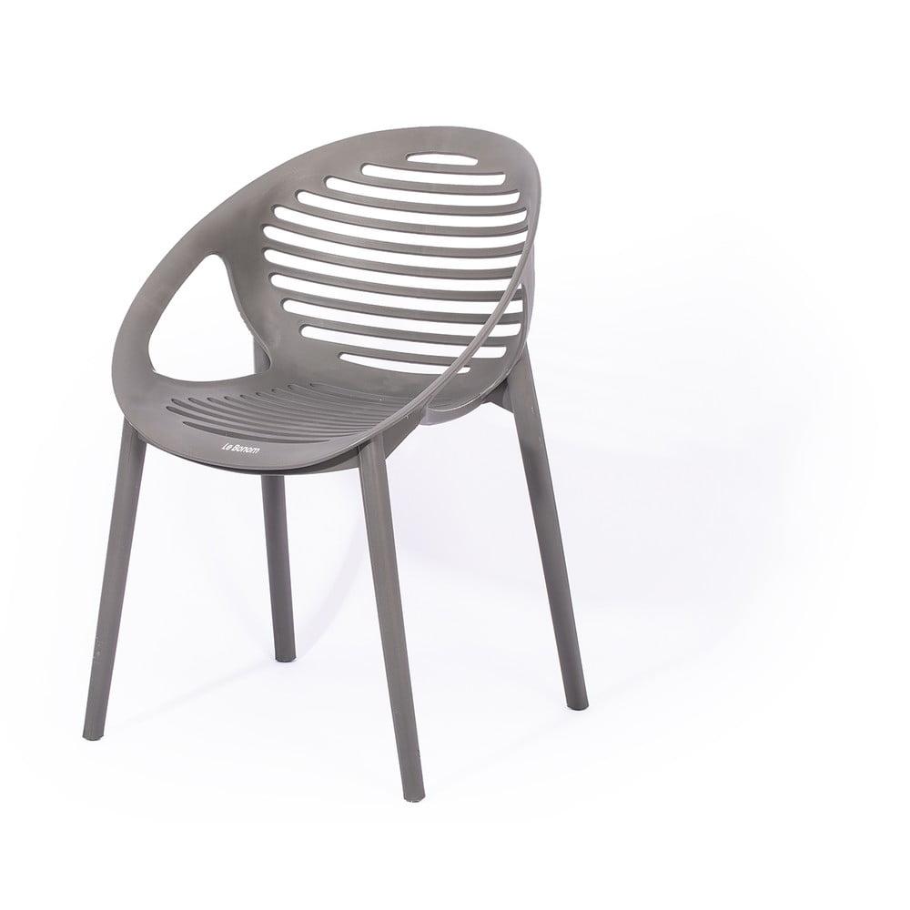 Szare krzesło ogrodowe Le Bonom Joanna
