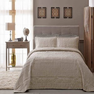 Zestaw: narzuta i poszewka na poduszkę TAC Sweet Dreams Beige, 180x240 cm