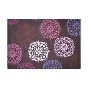 Wełniany dywan Purple Starbust, 121x182 cm