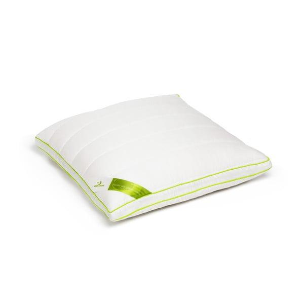 Biała poduszka z bambusowym wypełnieniem Perna Nature Green Future, 60x60cm