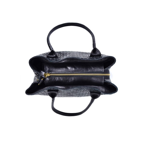 Skórzana torebka Dom, czarna