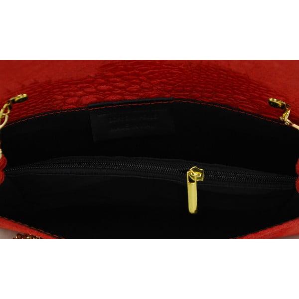 Skórzana kopertówka Snakesi Rosso