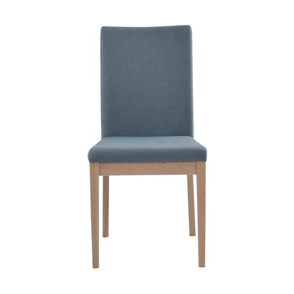 Zestaw 2 niebieskich krzeseł z drewna dębowego Folke Svalbard