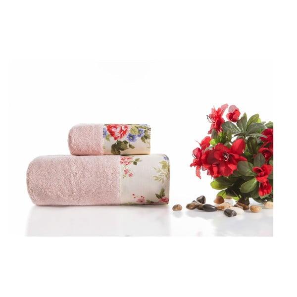 Zestaw 2 ręczników Anna V1, 30x50 cm + 50x90 cm