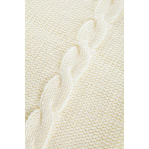 Pleciony koc Fancy Cream, 130x170 cm