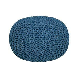 Niebieski puf dziergany LABEL51 Knitted
