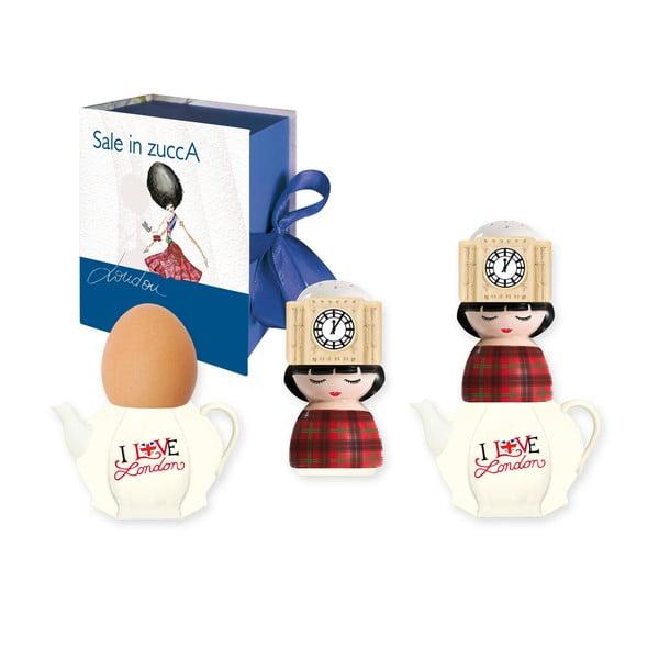 Kieliszek na jajko i solniczka UK