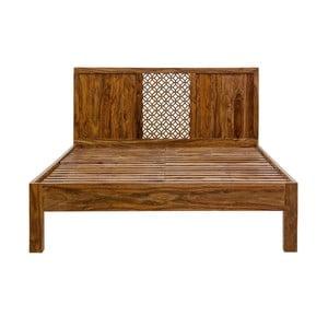 Łóżko dwuosobowe z palisandru Massive Home Rima, 180x200 cm