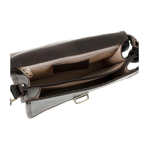Ciemnobrązowa torebka skórzana Ore Diece Agrigento