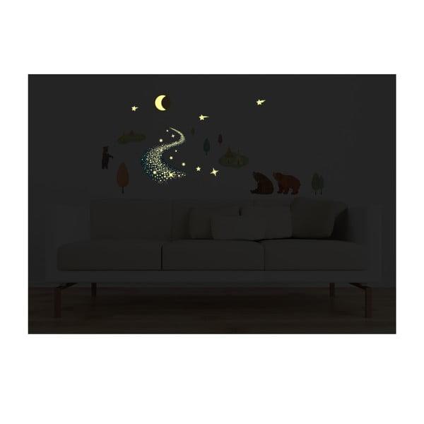 Naklejka świecąca w ciemności Bears and Tipi