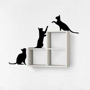 Półka z naklejką Cats White